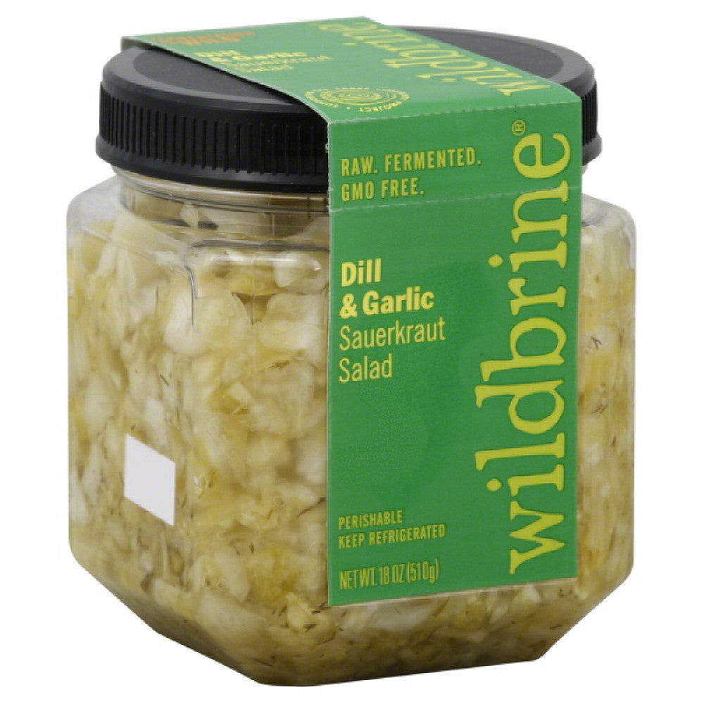 Wildbrine Dill & Garlic Sauerkraut Salad, 18 Oz (Pack of 6)
