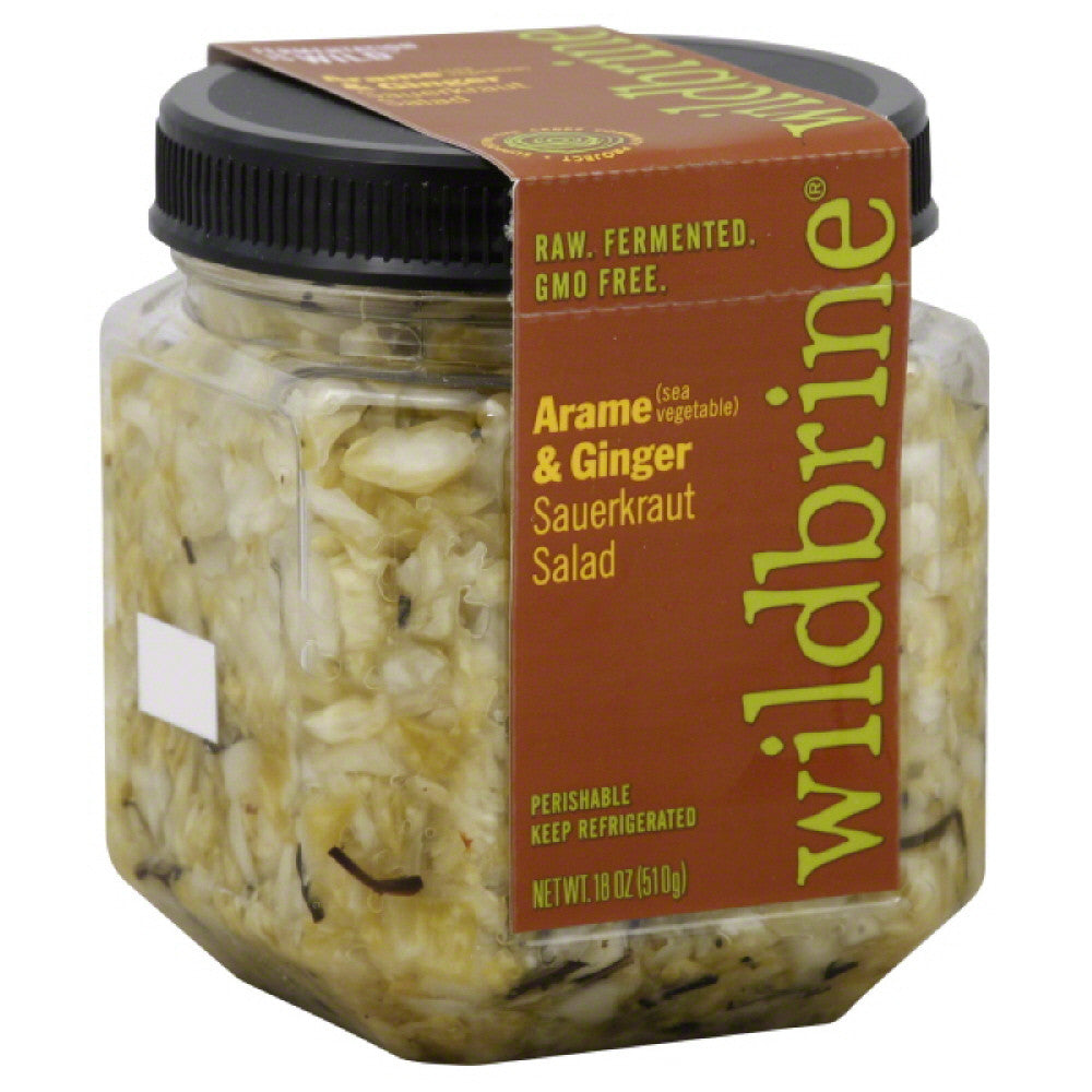 Wildbrine Arame (Sea Vegetable) & Ginger Sauerkraut Salad, 18 Oz (Pack of 6)