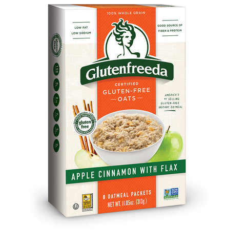 Glutenfreeda Apple Cinnamon With Flax Oatmeal, 11.5 Oz (Pack of 8)