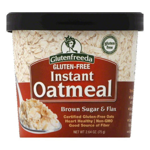 Glutenfreeda Gluten-Free Brown Sugar & Flax Instant Oatmeal, 2.64 Oz (Pack of 12)