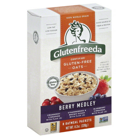 Glutenfreeda Berry Medley Oatmeal, 11.2 Oz (Pack of 8)