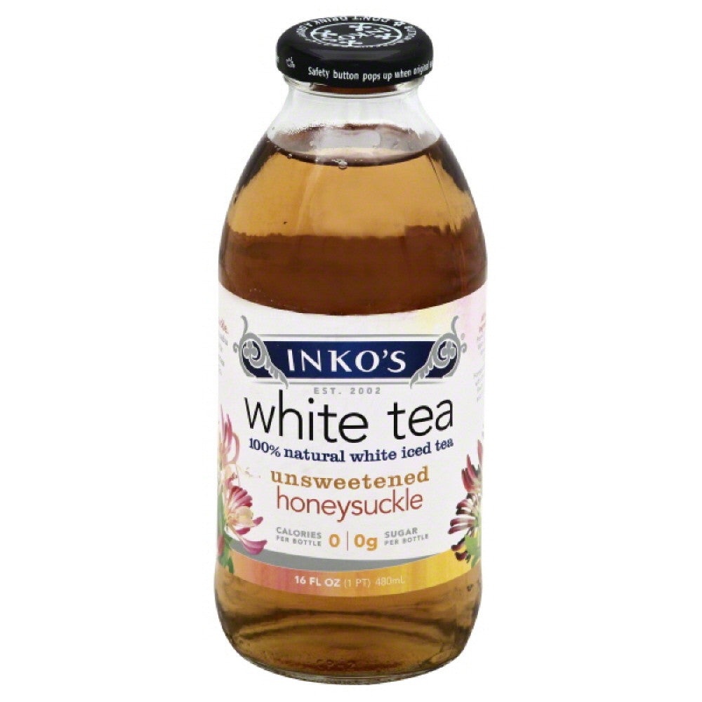 Inkos Unsweetened Honeysuckle White Tea, 16 Fo (Pack of 12)