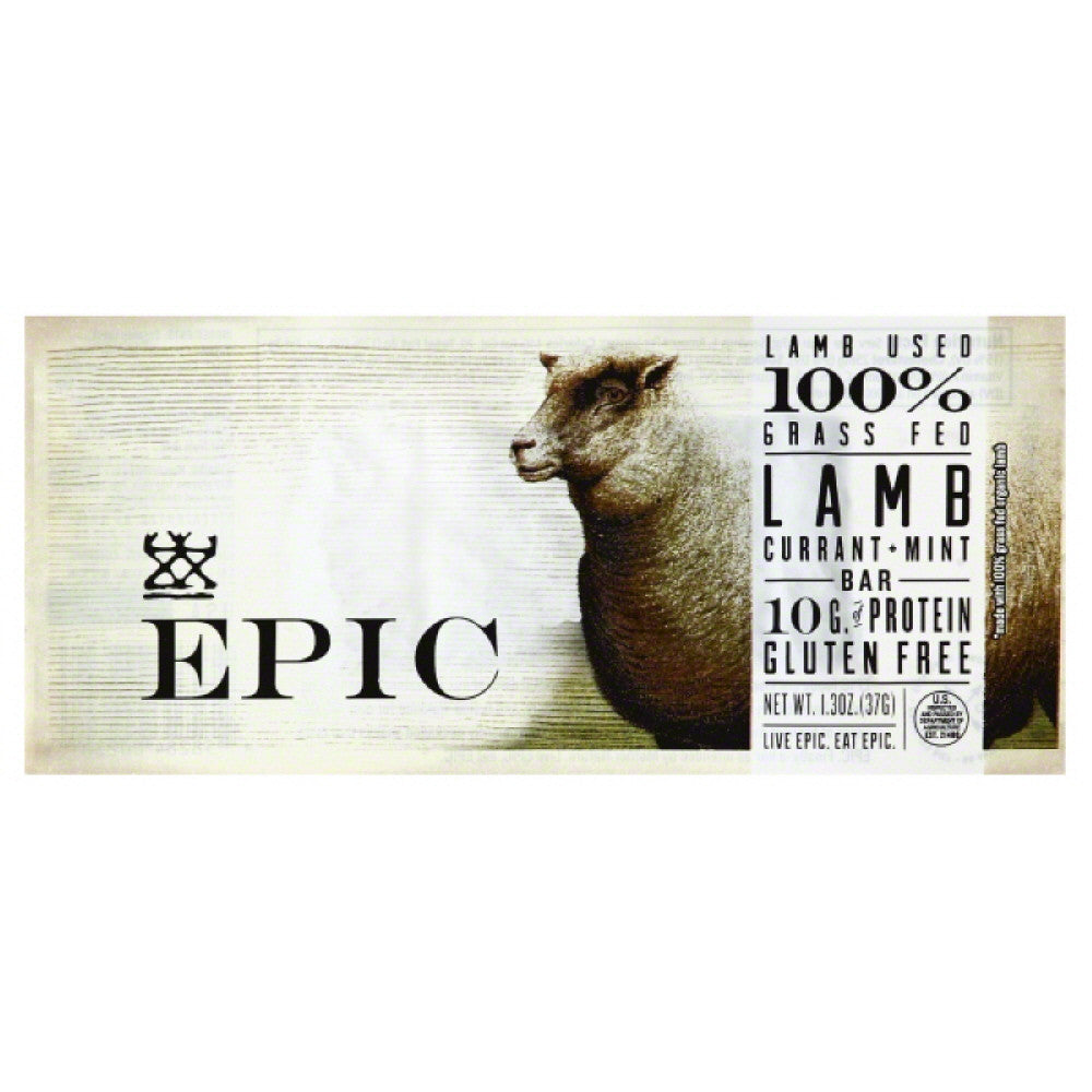 Epic Currant + Mint Lamb Bar, 1.5 Oz (Pack of 12)