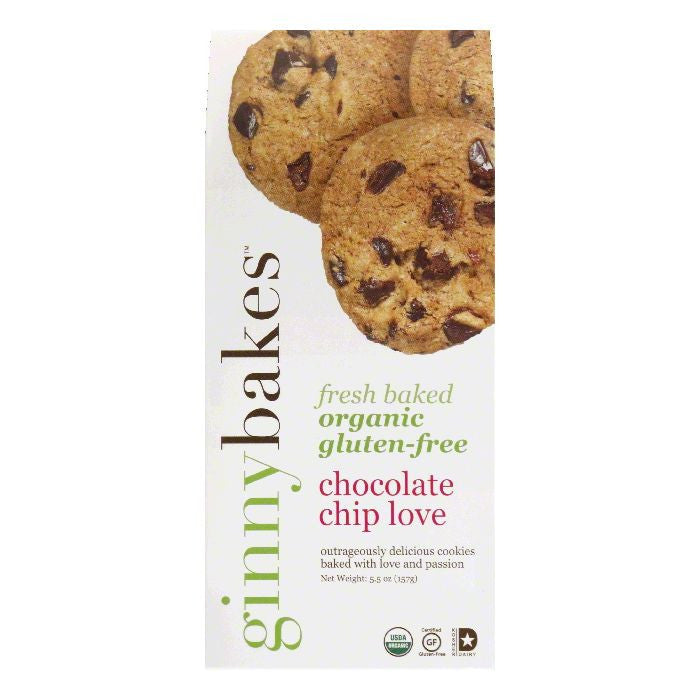 ginnybakes Chocolate Chip Love Cookies, 5.5 Oz (Pack of 8)