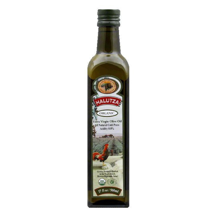 Halutza Olive Oil Premium Organic Extra Virgin, 17 FO (Pack of 6)
