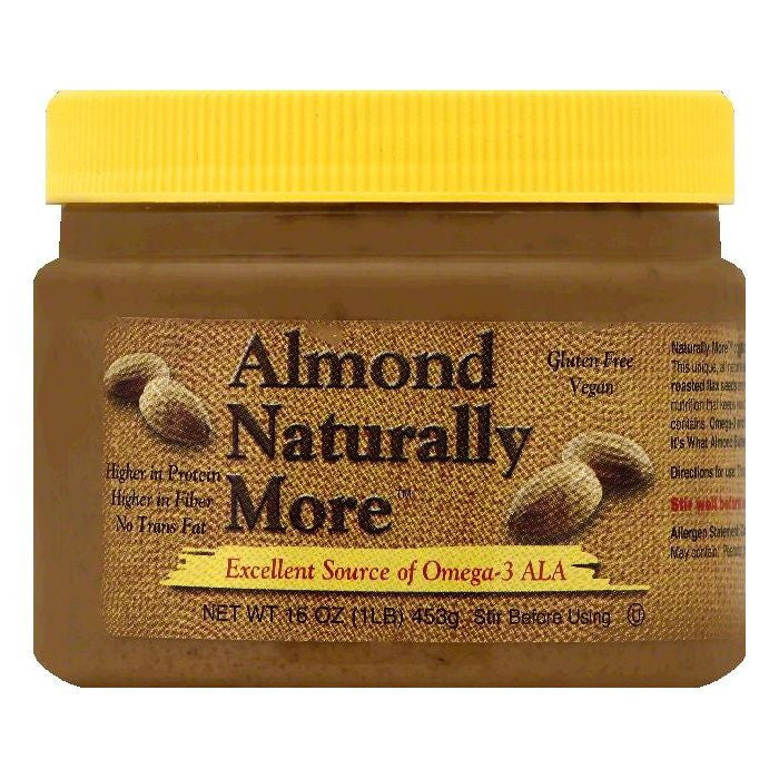 Naturally More Almond Butter, 16 OZ (Pack of 6)