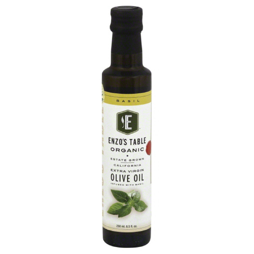 Enzos Table Basil Extra Virgin Organic Olive Oil, 250 Ml  ( Pack of  6)