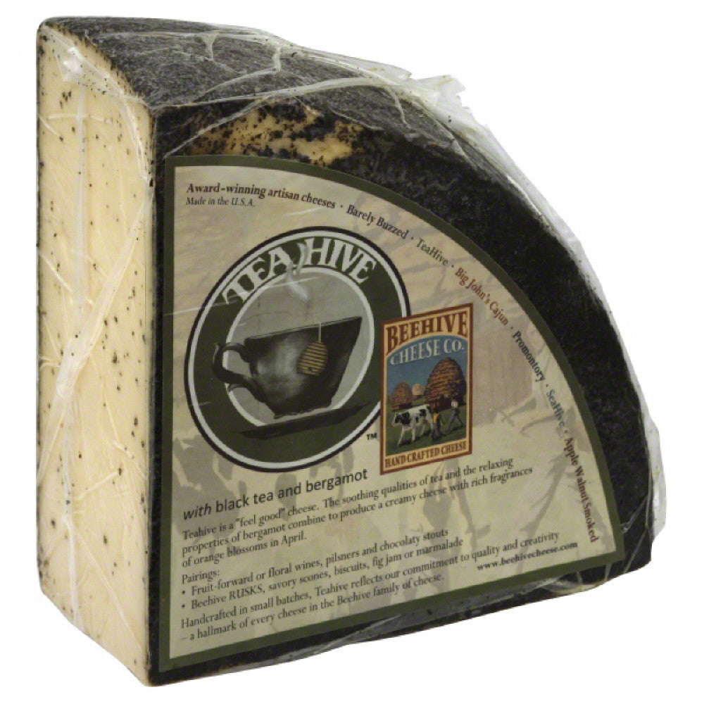 Beehive Cheese TeaHive Hand Crafted Cheese With Black Tea and Bergamot, 10 Lb
