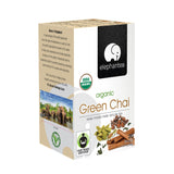 Elephantea Organic Black Tea Green Chai, 1.41 oz (Pack of 6)