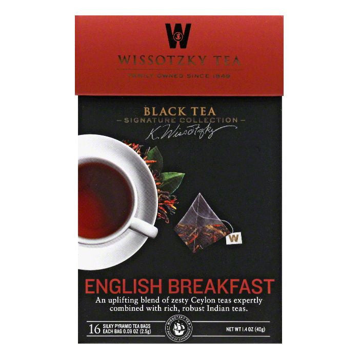 Wissotzky Tea English Breakfast Black Tea Bags, 16 BG (Pack of 6)