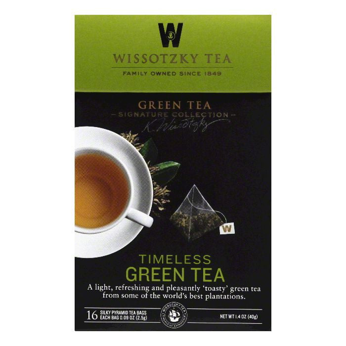 Wissotzky Tea Timeless Green Tea Bags, 16 BG (Pack of 6)