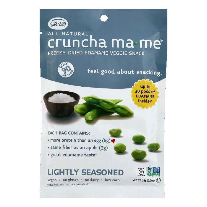 Cruncha MaMe Lightly Seasoned Freeze-Dried Edamame Veggie Snack, 0.7 OZ (Pack of 8)