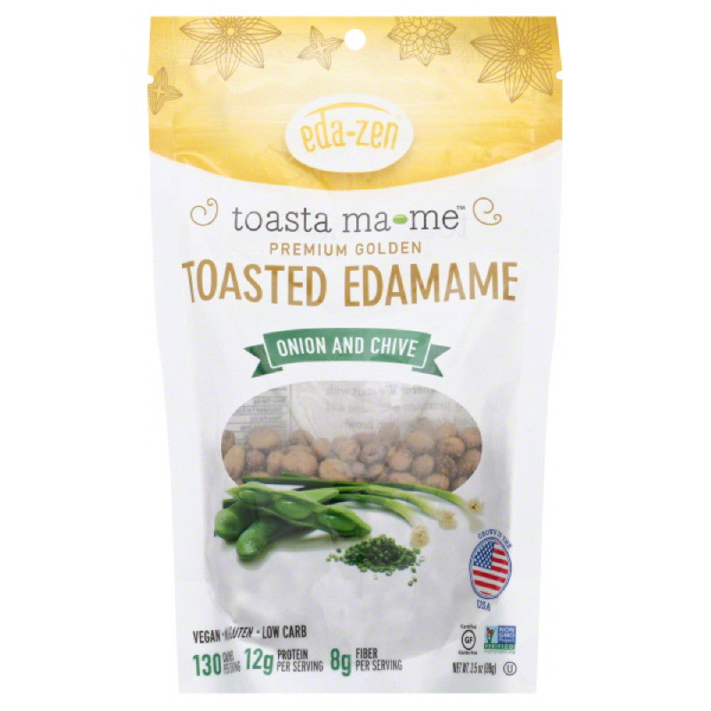 Eda Zen Onion & Chive Toasted Edamame, 3.5 Oz (Pack of 6)