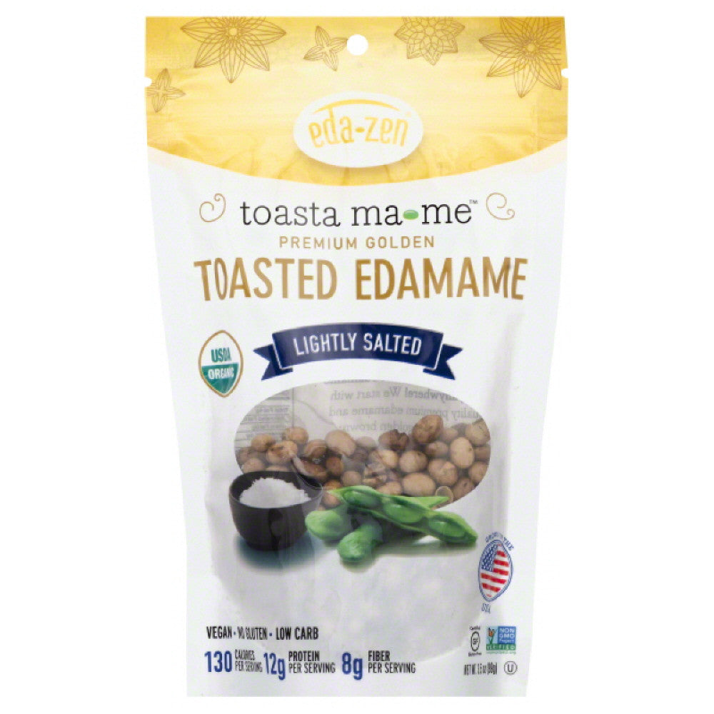 Eda Zen Lightly Salted Toasted Edamame, 3.5 Oz (Pack of 6)