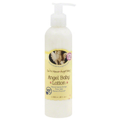 Earth Mama Angel Baby Natural Vanilla Orange Angel Baby Lotion, 8 Oz