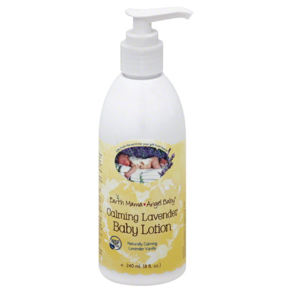 Earth Mama Angel Baby Calming Lavender Baby Lotion, 8 Oz