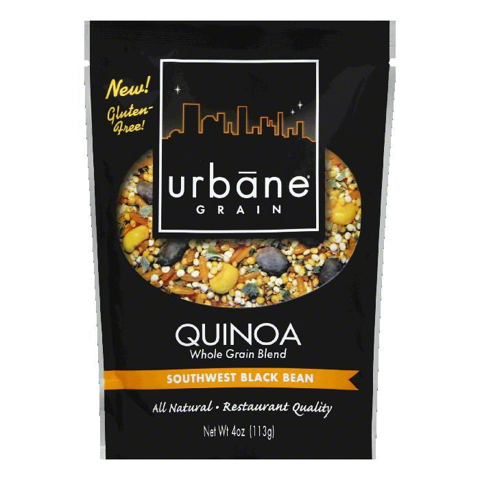 Urbane Grain Sweet Black Bean Quinoa Blend, 4 OZ (Pack of 6)