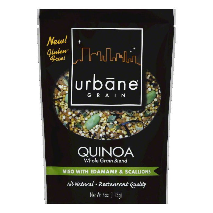 Urbane Grain Miso Edamame Quinoa Blend, 4 OZ (Pack of 6)