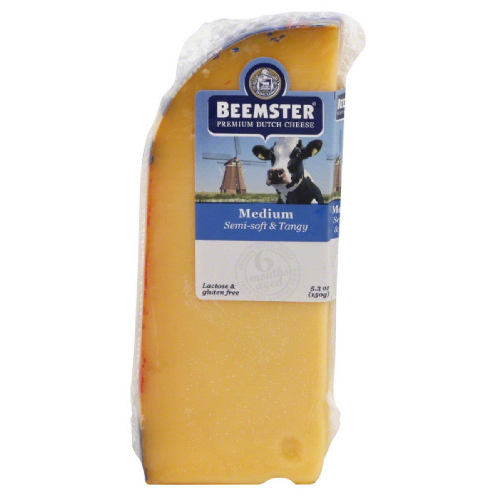 Beemster Aged 6 Months Medium Premium Dutch Cheese, 5.3 Oz (Pack of 12)