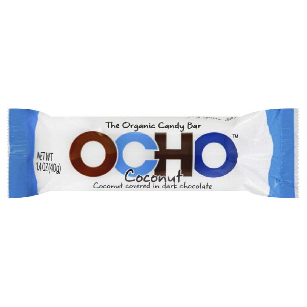Ocho Organic Coconut Candy Bar, 1.4 Oz (Pack of 12)