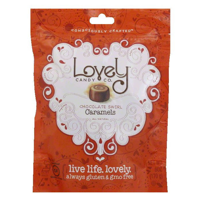 Lovely Chocolate Swirl Carmel, 6 OZ (Pack of 12)