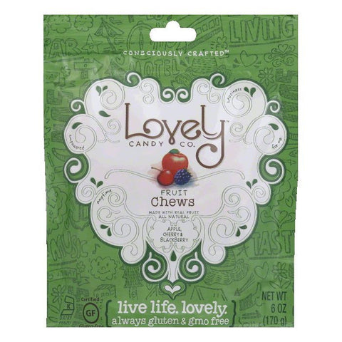 Lovely Orginal Fruit Chew, 6 OZ (Pack of 12)