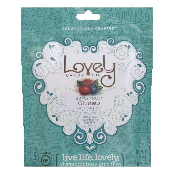Lovely Superfruit Fruit Chew, 6 OZ (Pack of 12)