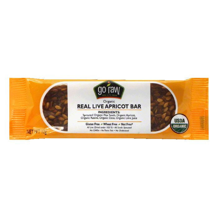Go Raw Organic Real Live Apricot Bar, 0.423 Oz (Pack of 10)