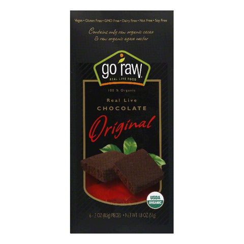 Go Raw Original Real Live Chocolate, 1.8 Oz (Pack of 12)