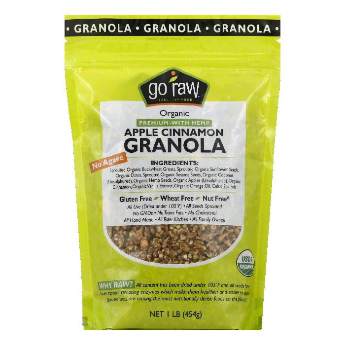 Go Raw Organic Apple Cinnamon Granola, 16 Oz (Pack of 6)
