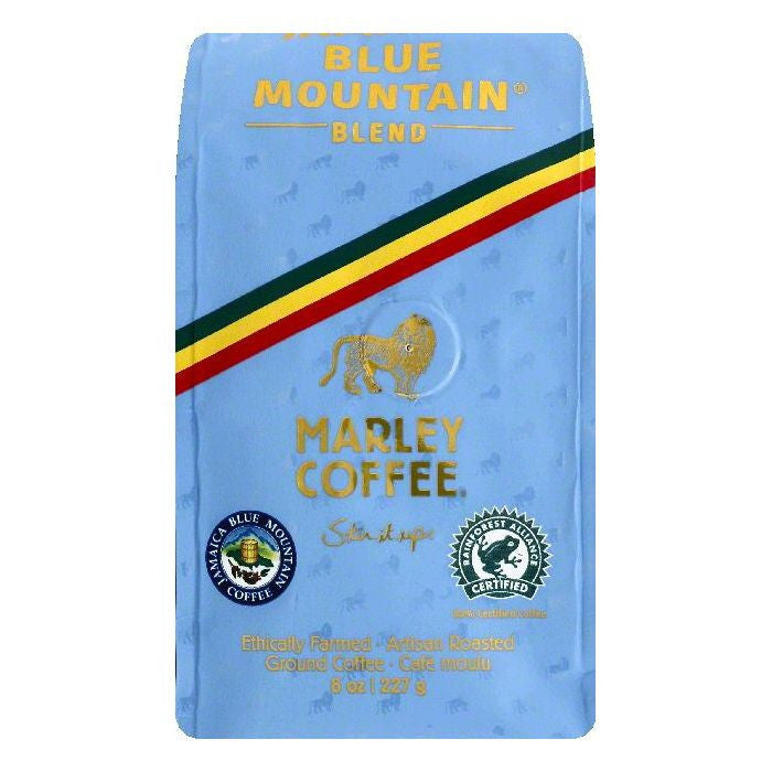 Marley Coffee Jamaica Blue Mountain Blend Ground Coffee, 8 OZ (Pack of 8)