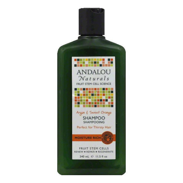 Andalou Naturals Argan & Sweet Orange Moisture Rich Shampoo, 11.5 Oz