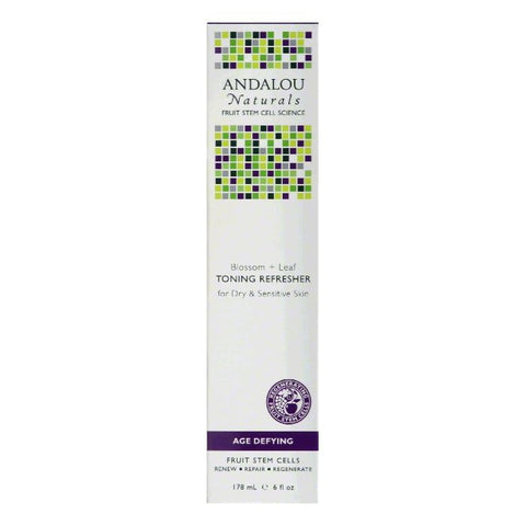 Andalou Naturals Age Defying Blossom + Leaf for Dry & Sensitive Skin Toning Refresher, 6 Oz