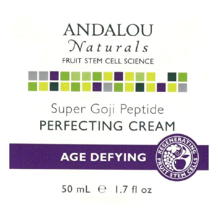 Andalou Naturals Super Goji Peptide Age Defying Perfecting Cream, 1.7 Oz