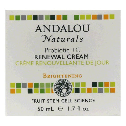 Andalou Naturals Probiotic +C Brightening Renewal Cream, 1.7 Oz