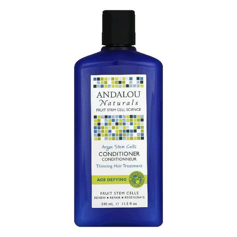 Andalou Naturals Argan Stem Cells Thinning Hair Treatment Age Defying Conditioner, 11.5 Oz
