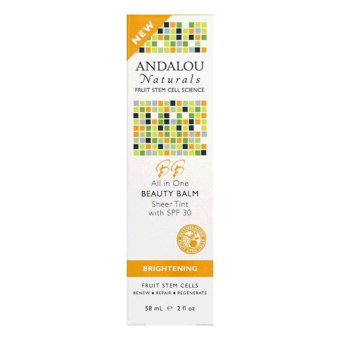 Andalou Naturals Sheer Tint with SPF 30 All in One Beauty Balm, 2 Oz
