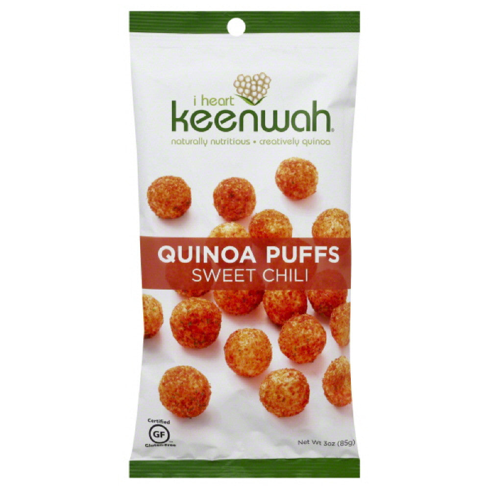 I Heart Keenwah Sweet Chili Quinoa Puffs, 3 Oz (Pack of 12)