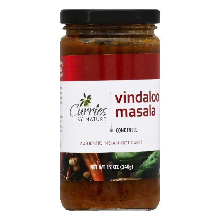 Curries By Nature Vindaloo Masala Hot Condensed Curry, 12 OZ  ( Pack of  6)