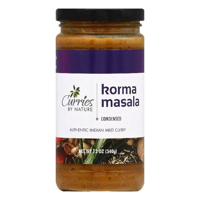Curries By Nature Korma Masala Mild Condensed Curry, 12 OZ  ( Pack of  6)