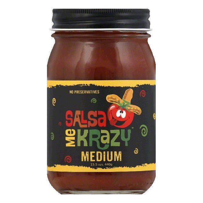 Salsa Me Krazy Medium Salsa, 15.5 OZ (Pack of 6)