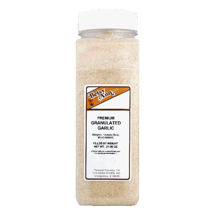 Betsy Ann Granulated Premium Garlic, 21 Oz