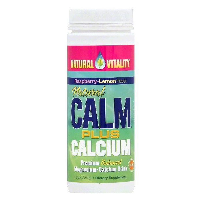 Natural Vitality Raspberry-Lemon Flavor Calm Plus Calcium, 8 OZ