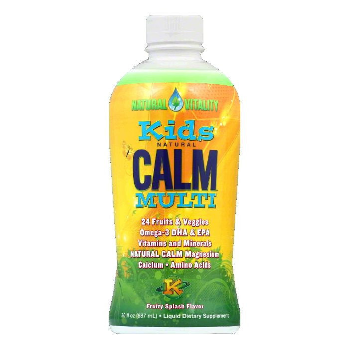 Natural Vitality Fruity Splash Flavor Kids Calm Multi, 30 FO