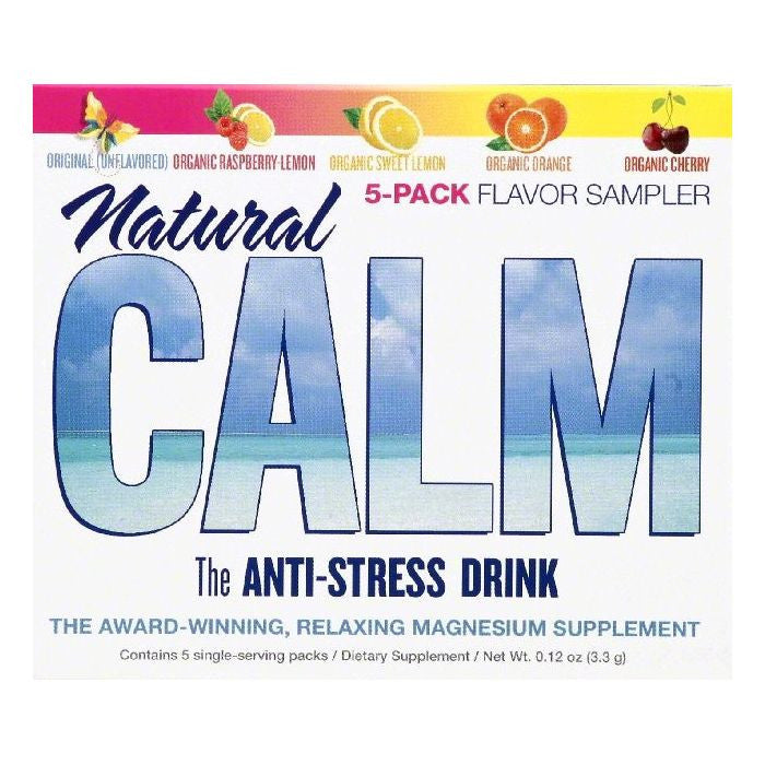 Natural Vitality Single-Serve Packs Flavor Sampler Natural Calm Anti-Stress Drink, 5 ea (Pack of 8)