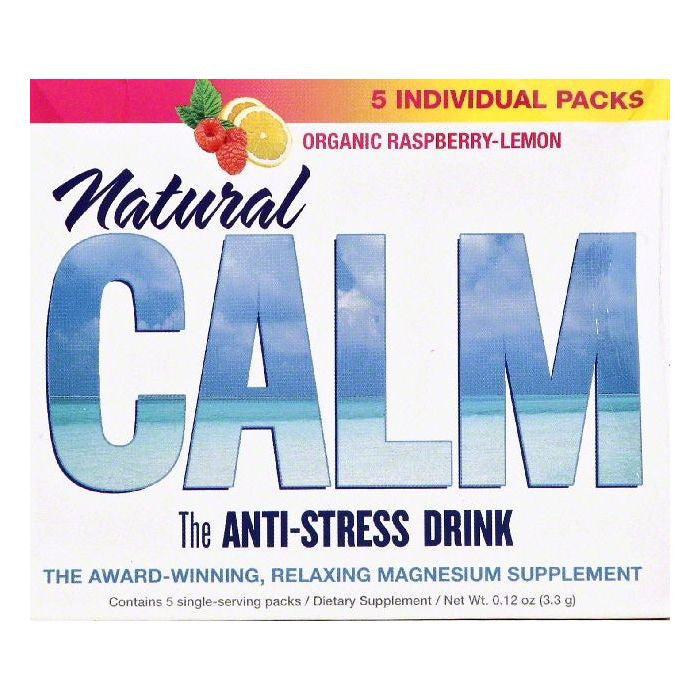 Natural Vitality Organic Raspberry-Lemon Anti-Stress Drink, 5 ea (Pack of 8)