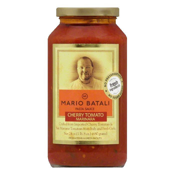 Mario Batali Cherry Tomato Pasta Sauce, 24 OZ (Pack of 6)
