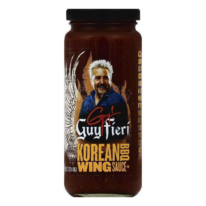 Guy Fieri Korean BBQ Wing Sauce, 12 OZ (Pack of 6)
