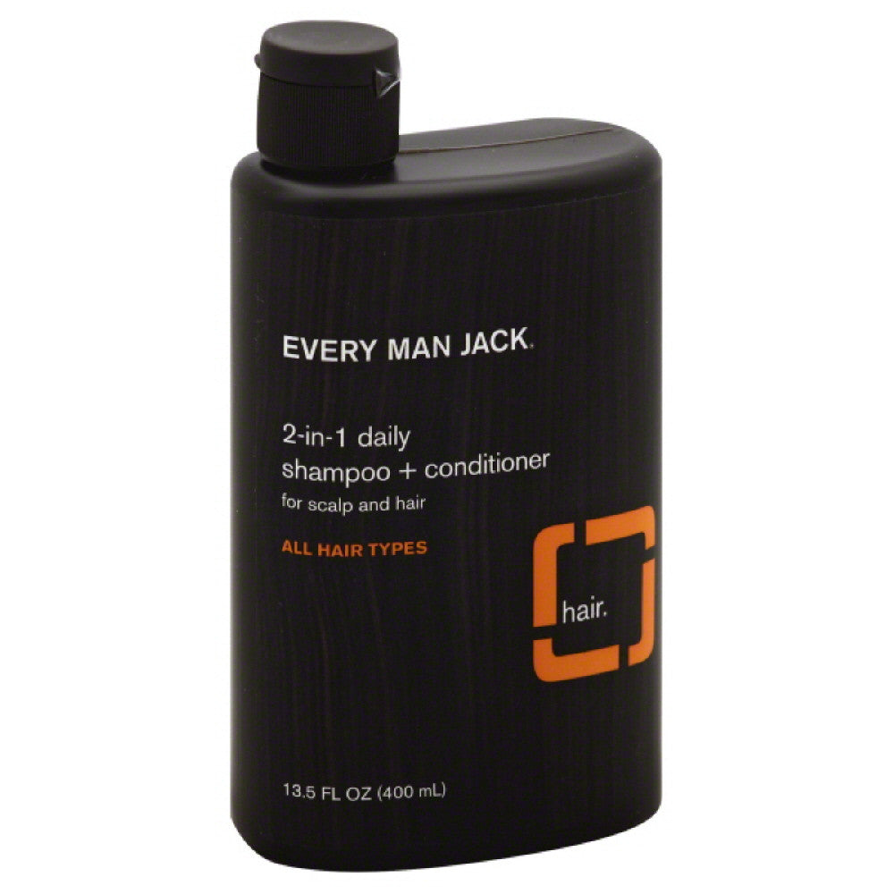 Every Man Jack Citrus 2-in-1 Daily Shampoo + Conditioner, 13.5 Oz