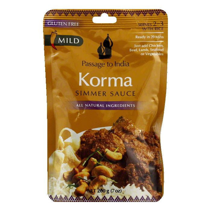Passage to India Korma Simmer Sauce, 7 OZ (Pack of 6)